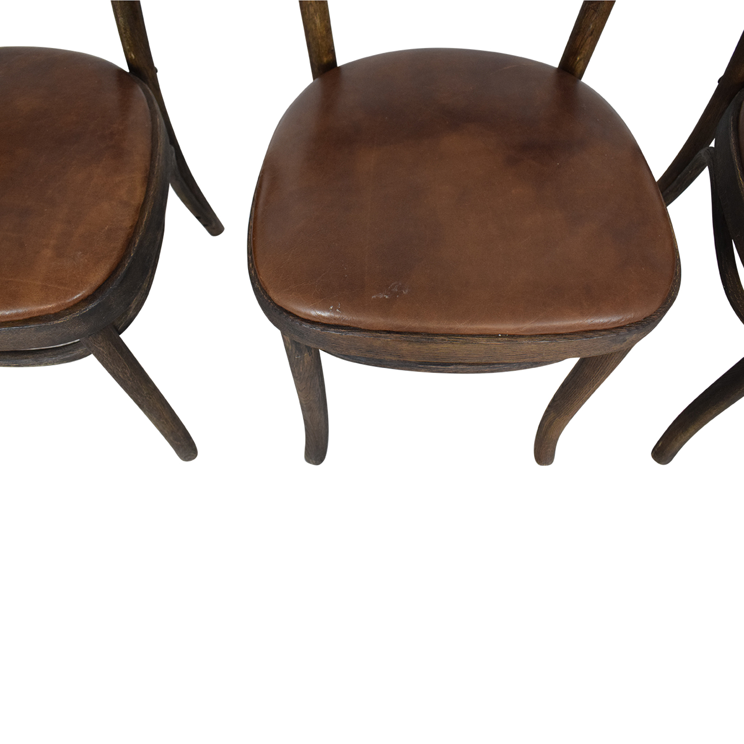 Restoration Hardware Restoration Hardware Vienna Cafe Leather Side Chairs Dining Chairs