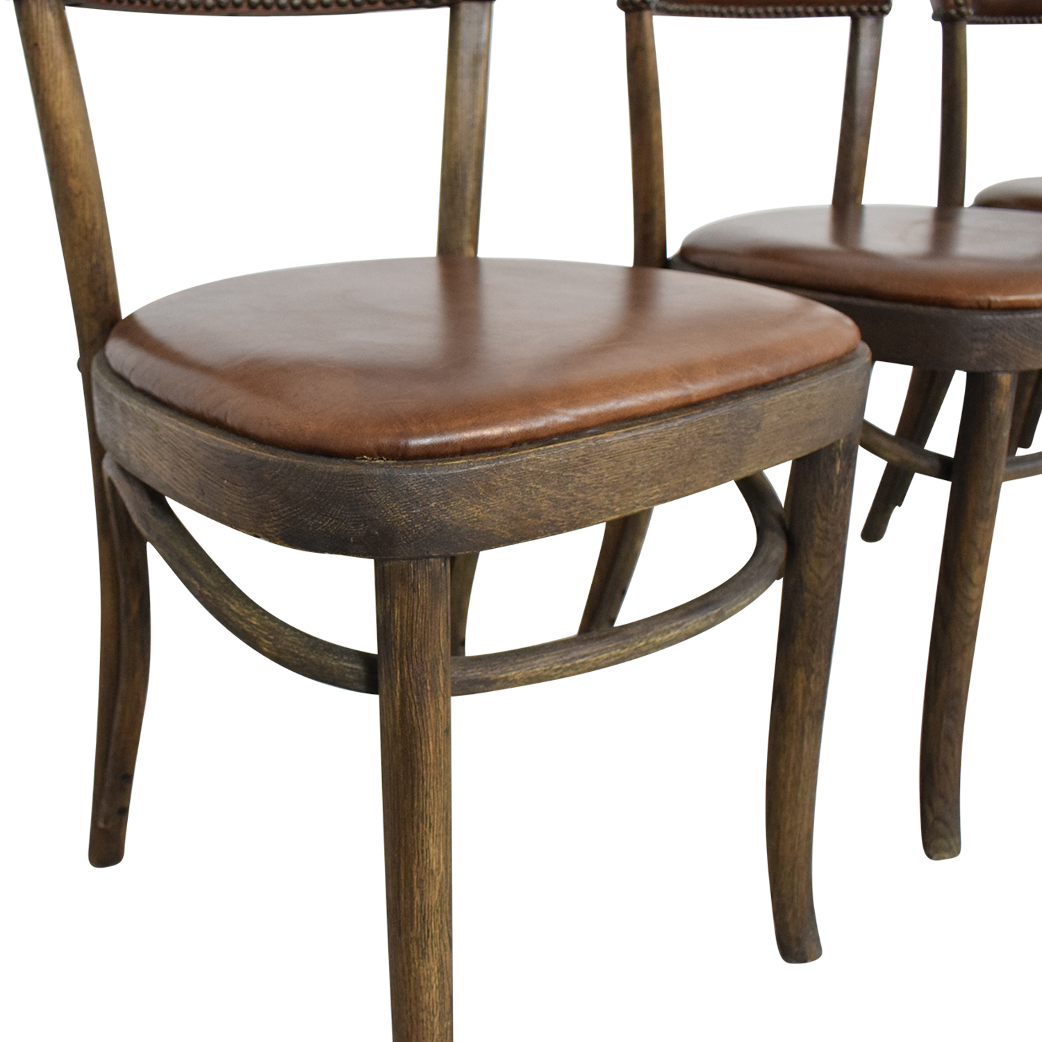 Restoration Hardware Restoration Hardware Vienna Cafe Leather Side Chairs dimensions
