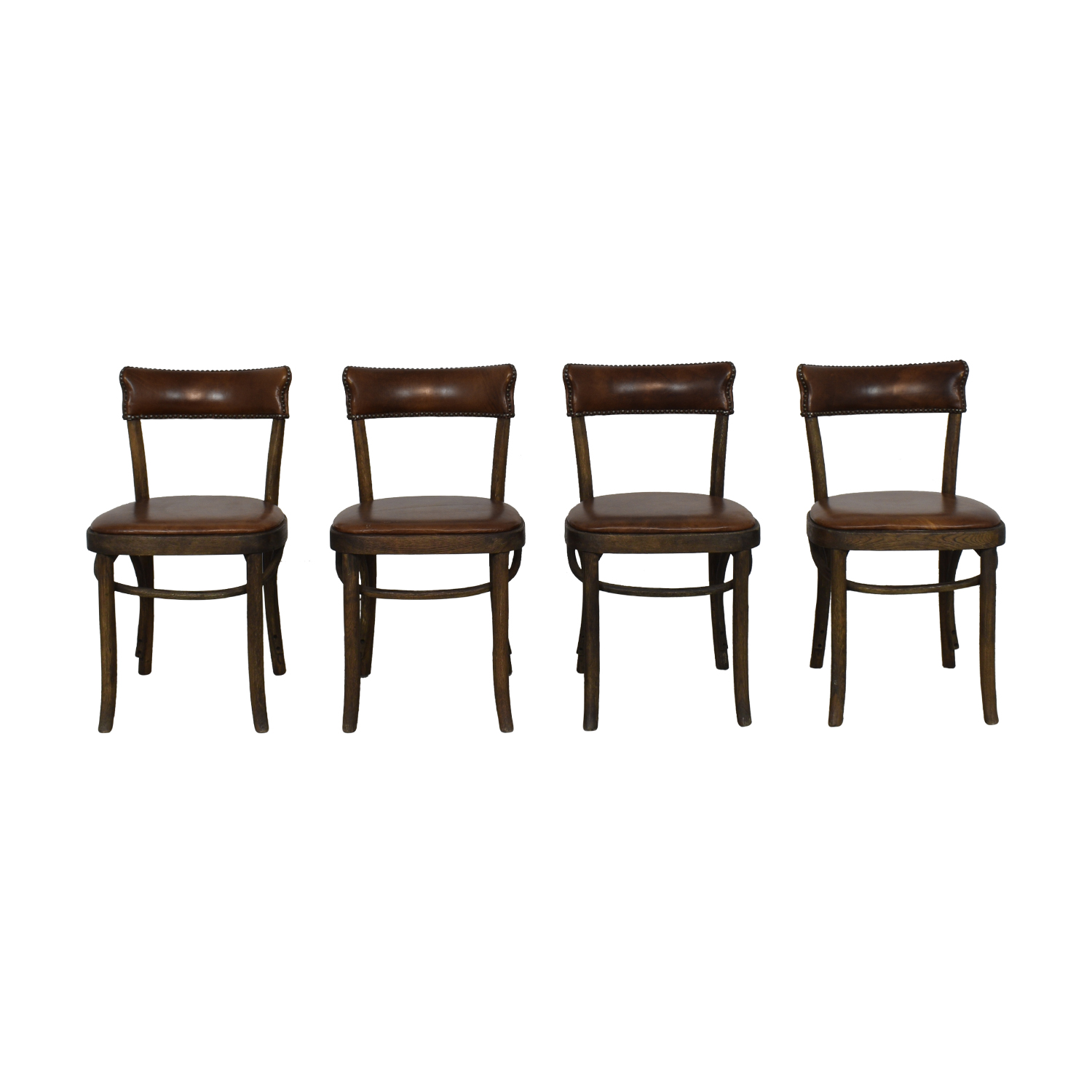 Restoration Hardware Restoration Hardware Vienna Cafe Leather Side Chairs discount