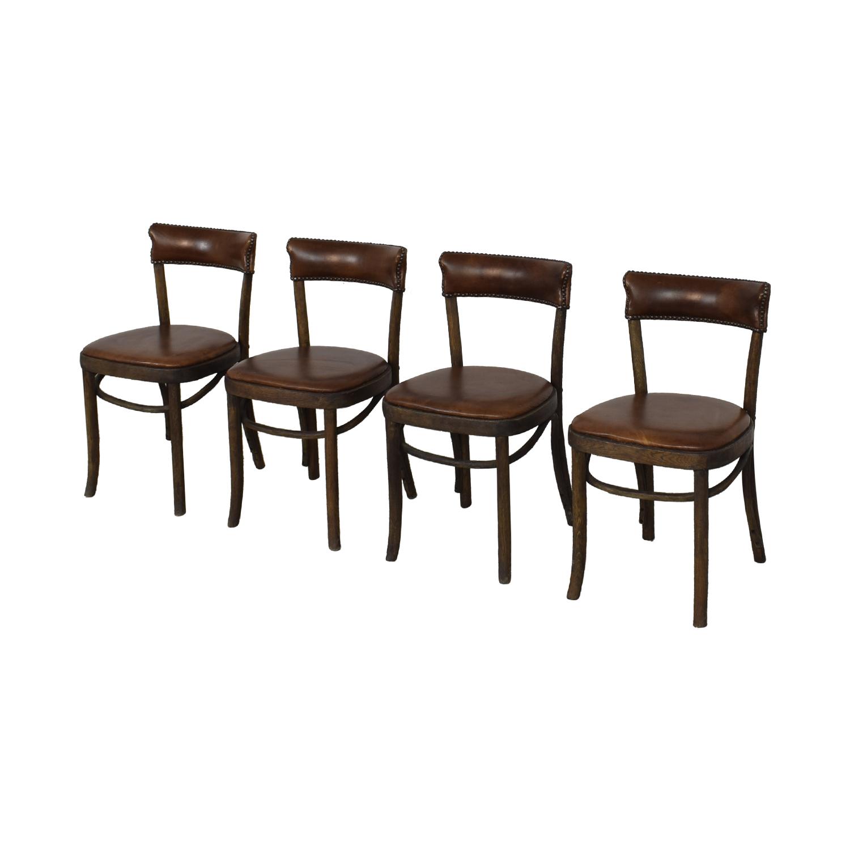 buy Restoration Hardware Vienna Cafe Leather Side Chairs Restoration Hardware Chairs