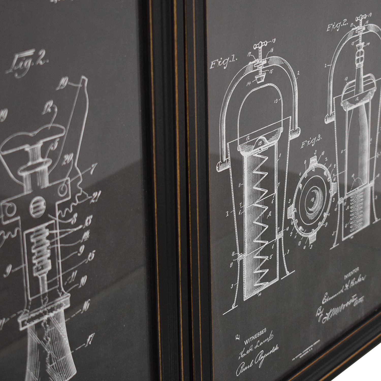 Wine Blueprint Wall Art