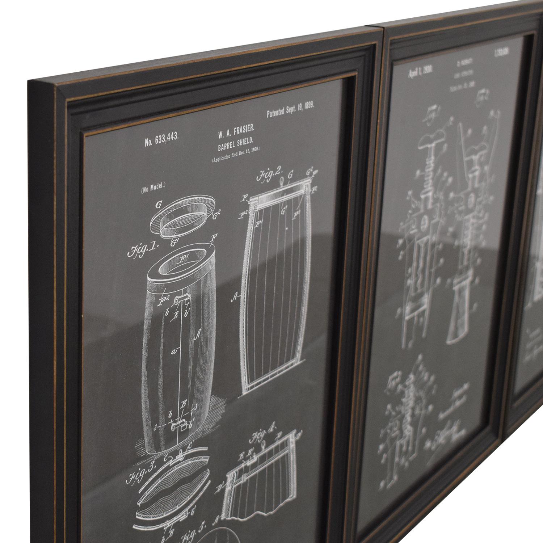 buy Wine Blueprint Wall Art