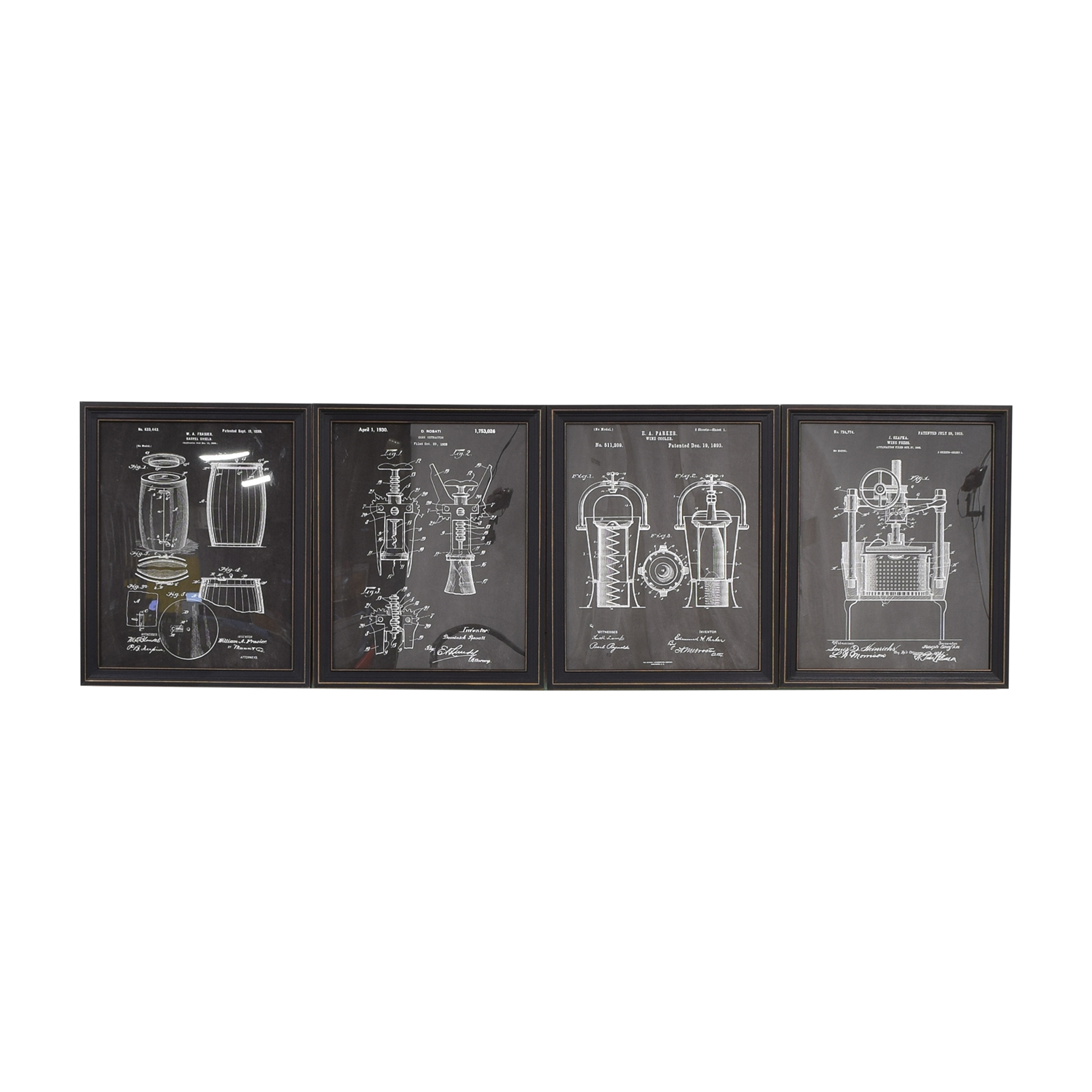 buy  Wine Blueprint Wall Art online
