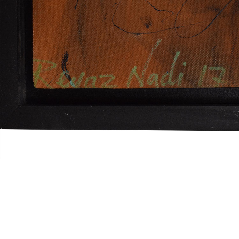 Reyaz Nadi Steve McQueen Framed Painting on sale