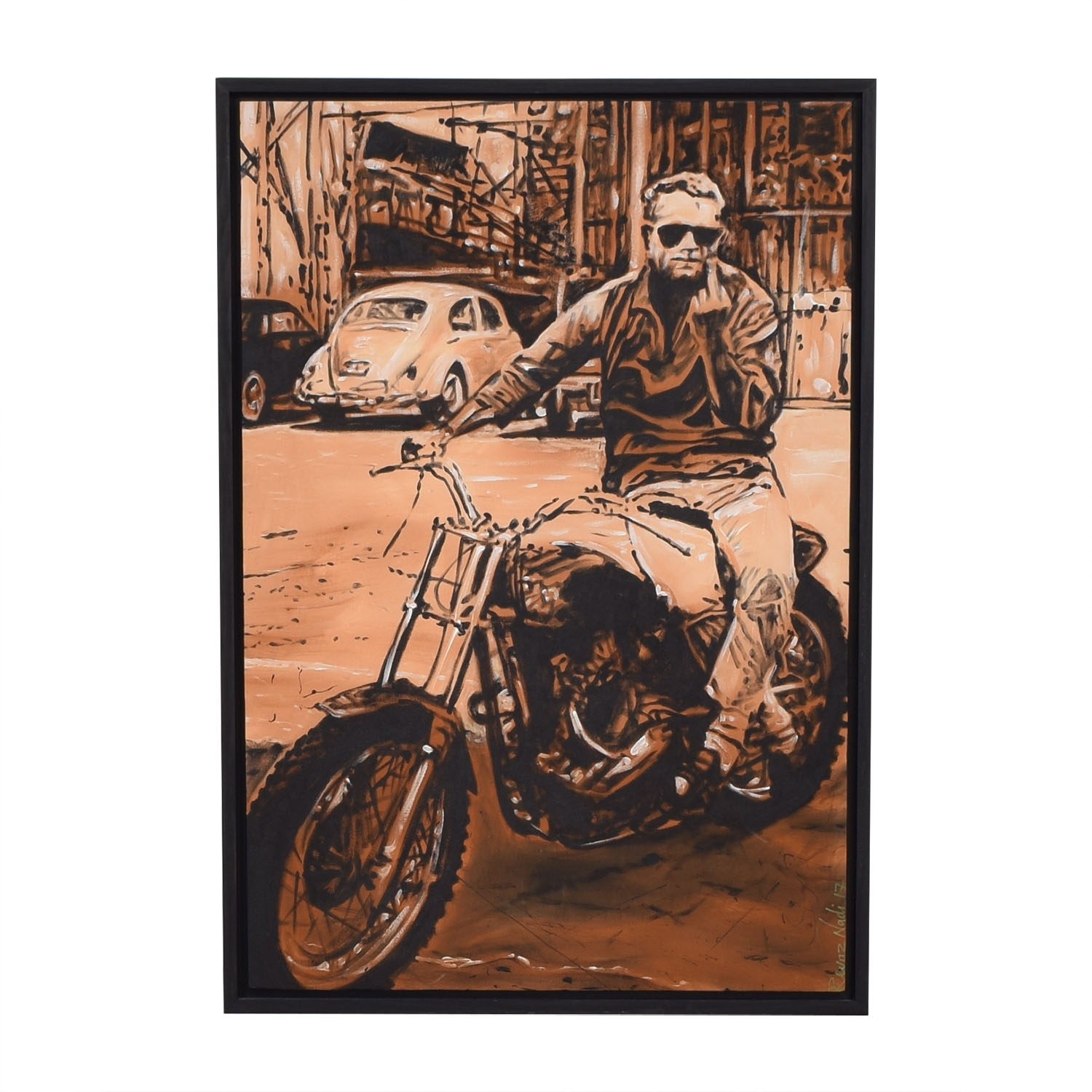 Reyaz Nadi Steve McQueen Framed Painting on sale