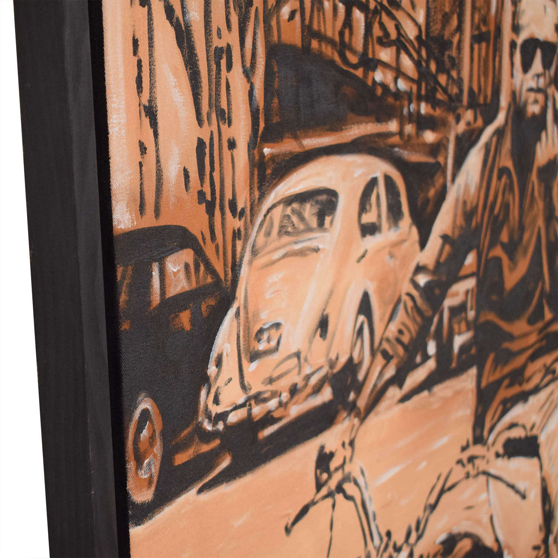 Reyaz Nadi Steve McQueen Framed Painting nj