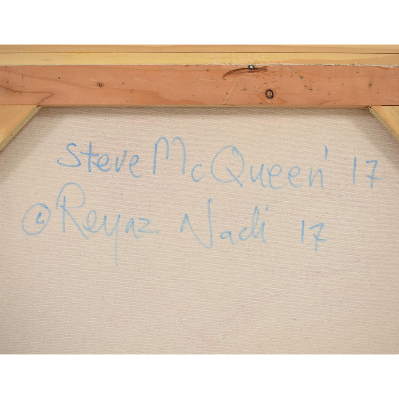 Reyaz Nadi Steve McQueen Framed Painting pa