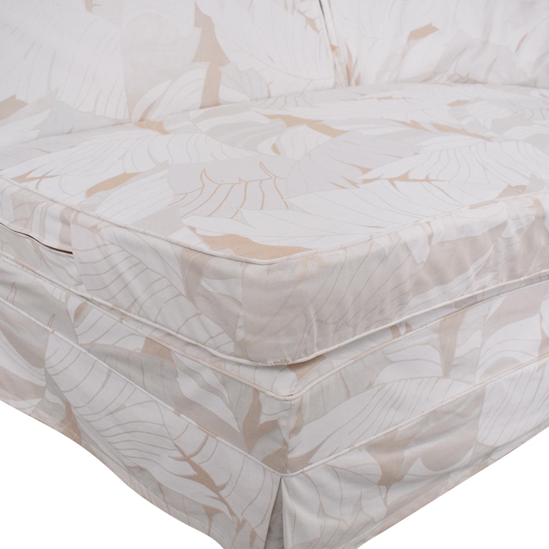 shop Upholstered Armless Loveseat  Sofas