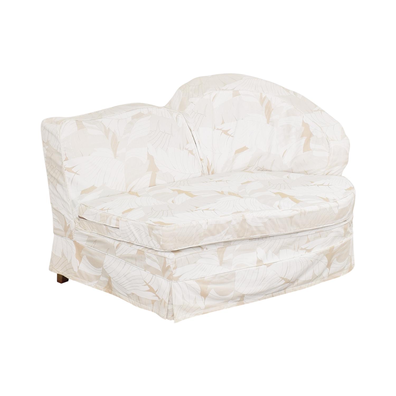 Upholstered Armless Loveseat Sofas