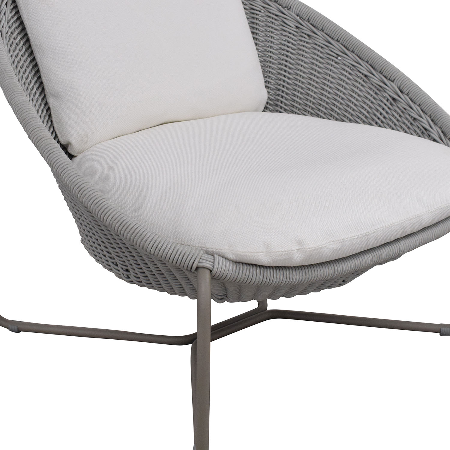 Crate & Barrel Crate & Barrel Morocco Oval Lounge Chair with Cushion second hand