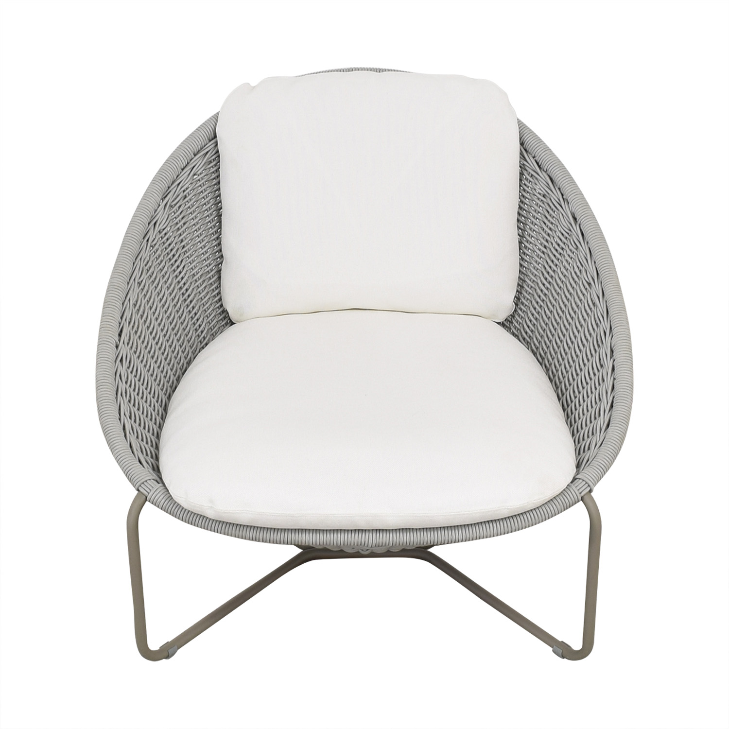 Crate & Barrel Crate & Barrel Morocco Oval Lounge Chair with Cushion ma