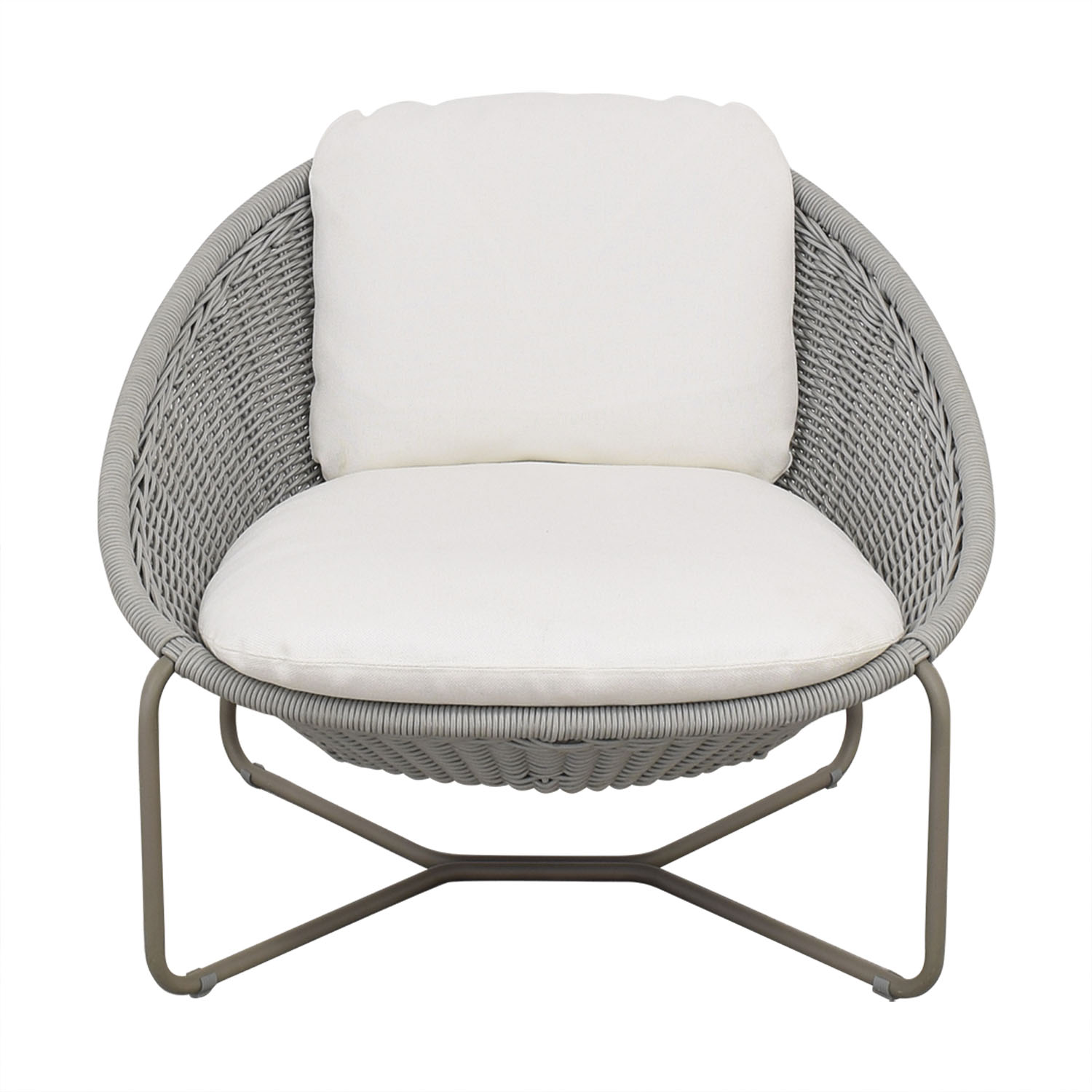 Crate & Barrel Morocco Oval Lounge Chair with Cushion / Accent Chairs