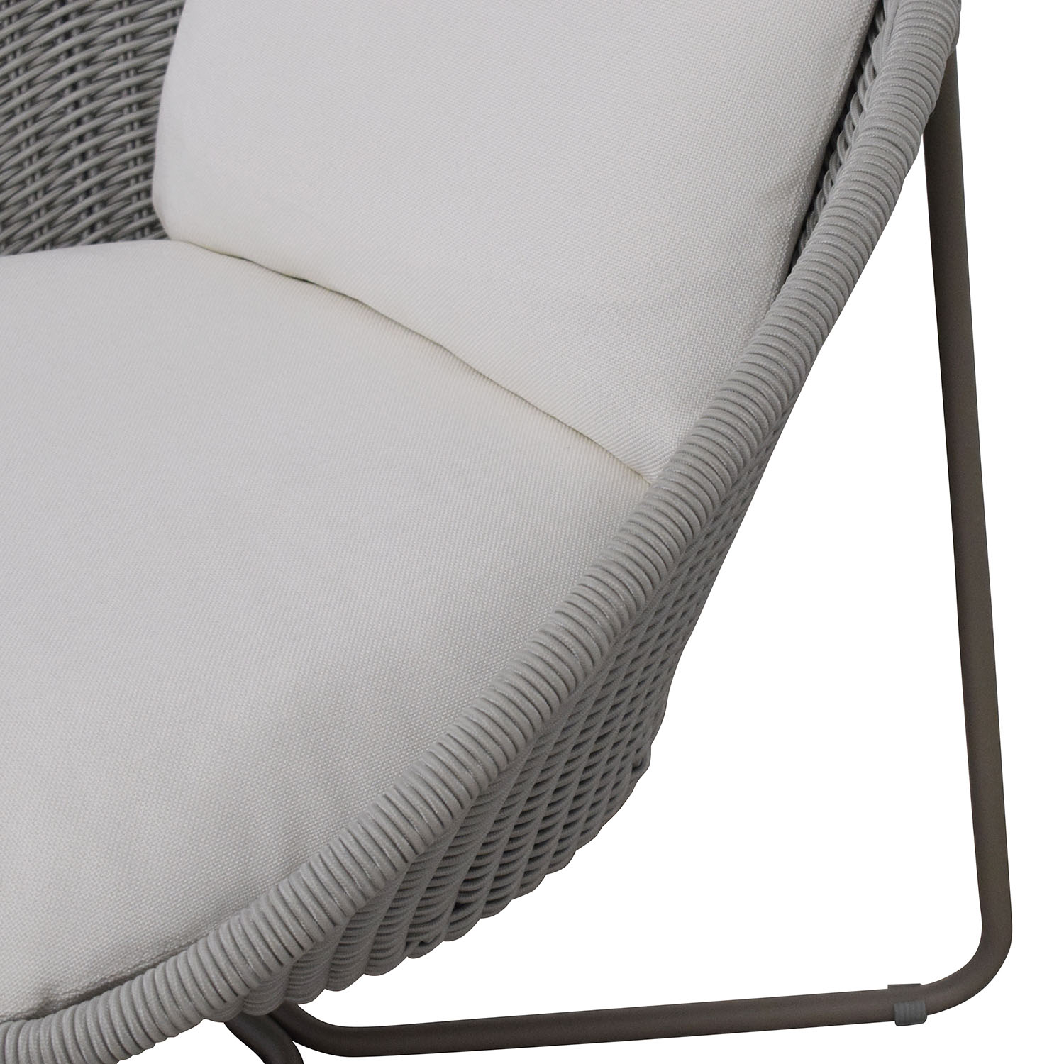 Crate & Barrel Morocco Oval Lounge Chair with Cushion Crate & Barrel