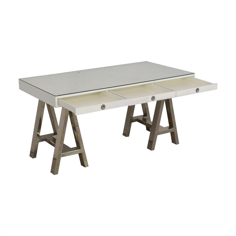 Williams Sonoma Williams Sonoma Mason Desk white & silver