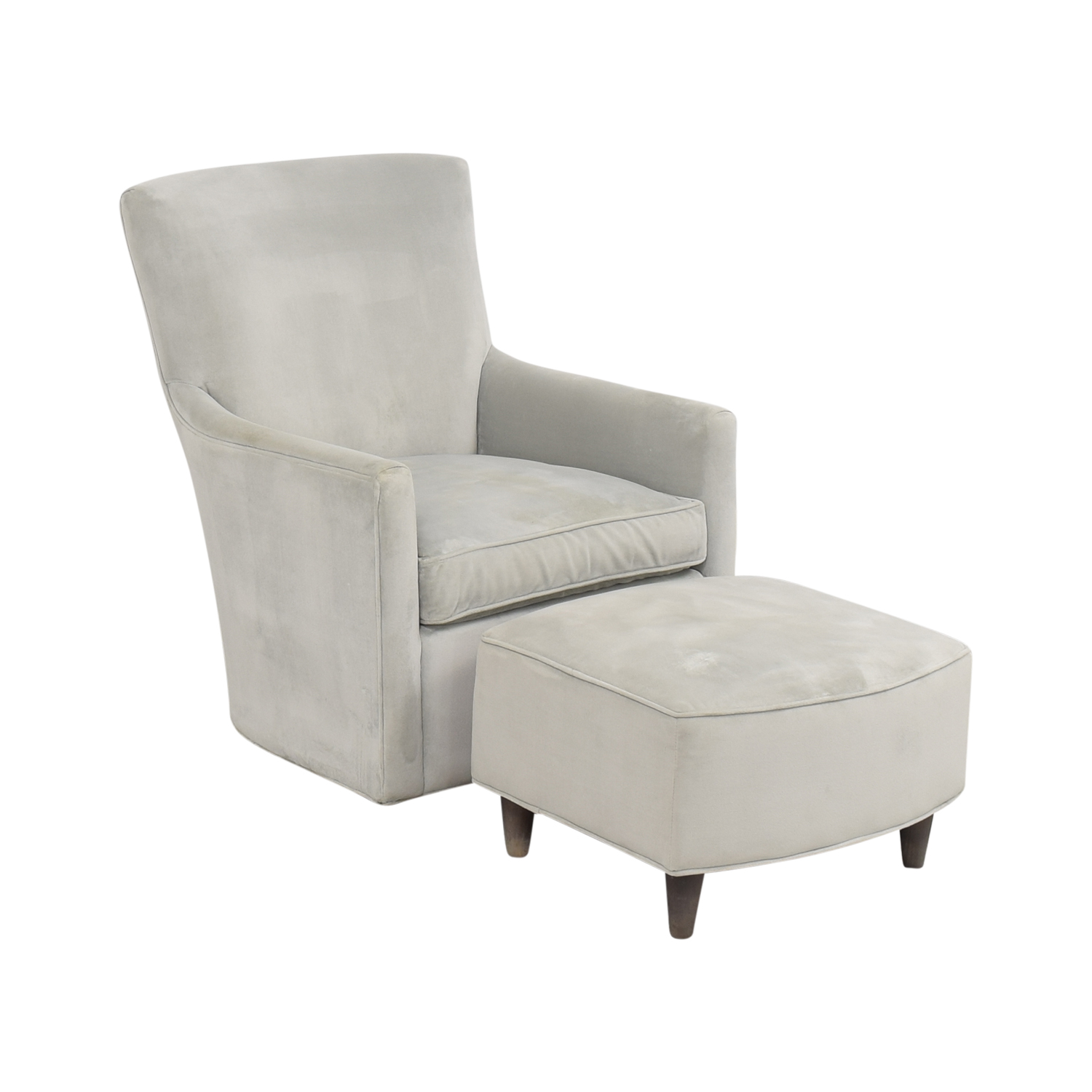 buy Land of Nod Glider and Ottoman Land of Nod Accent Chairs