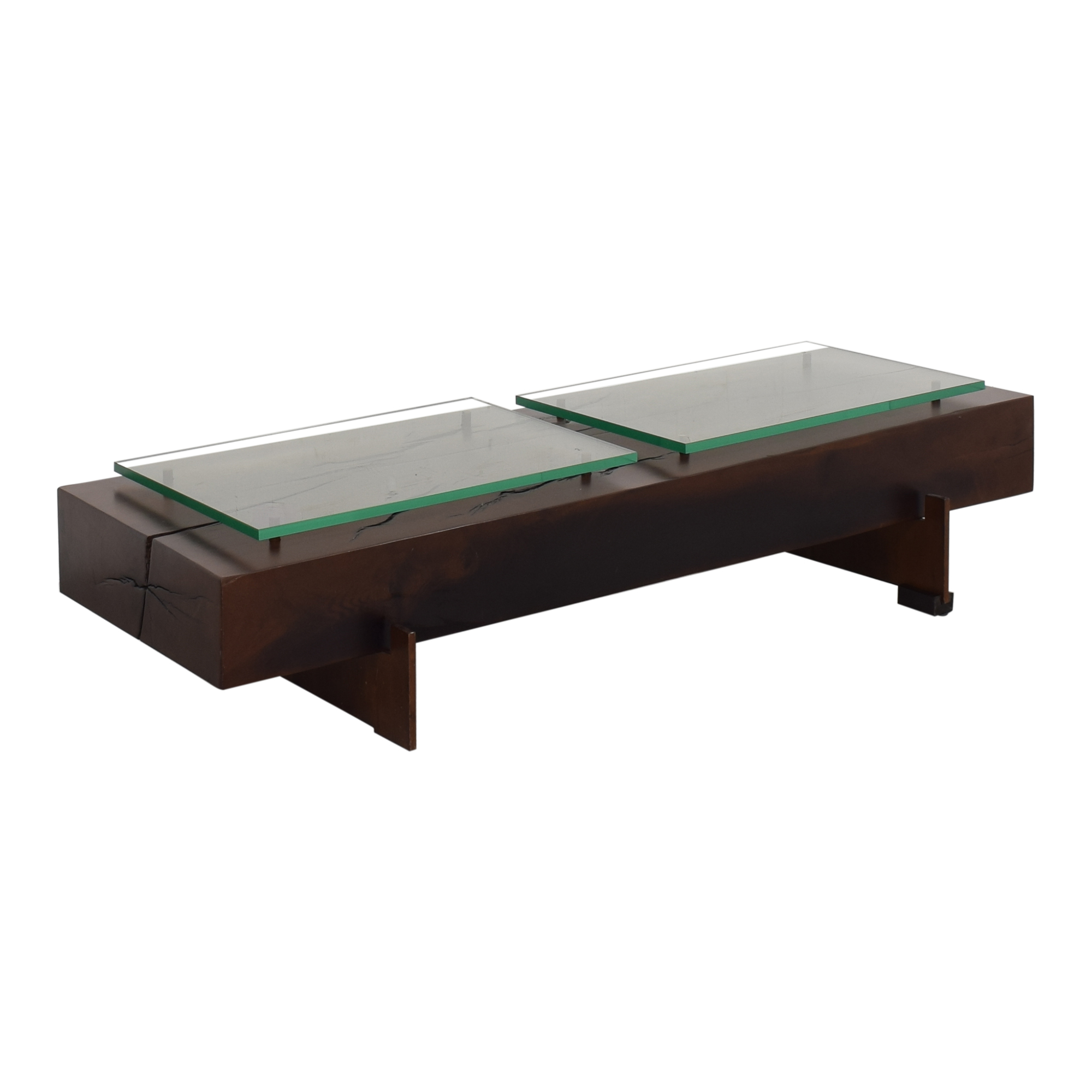 Moura Starr Iguatemi Coffee Table With Glass discount