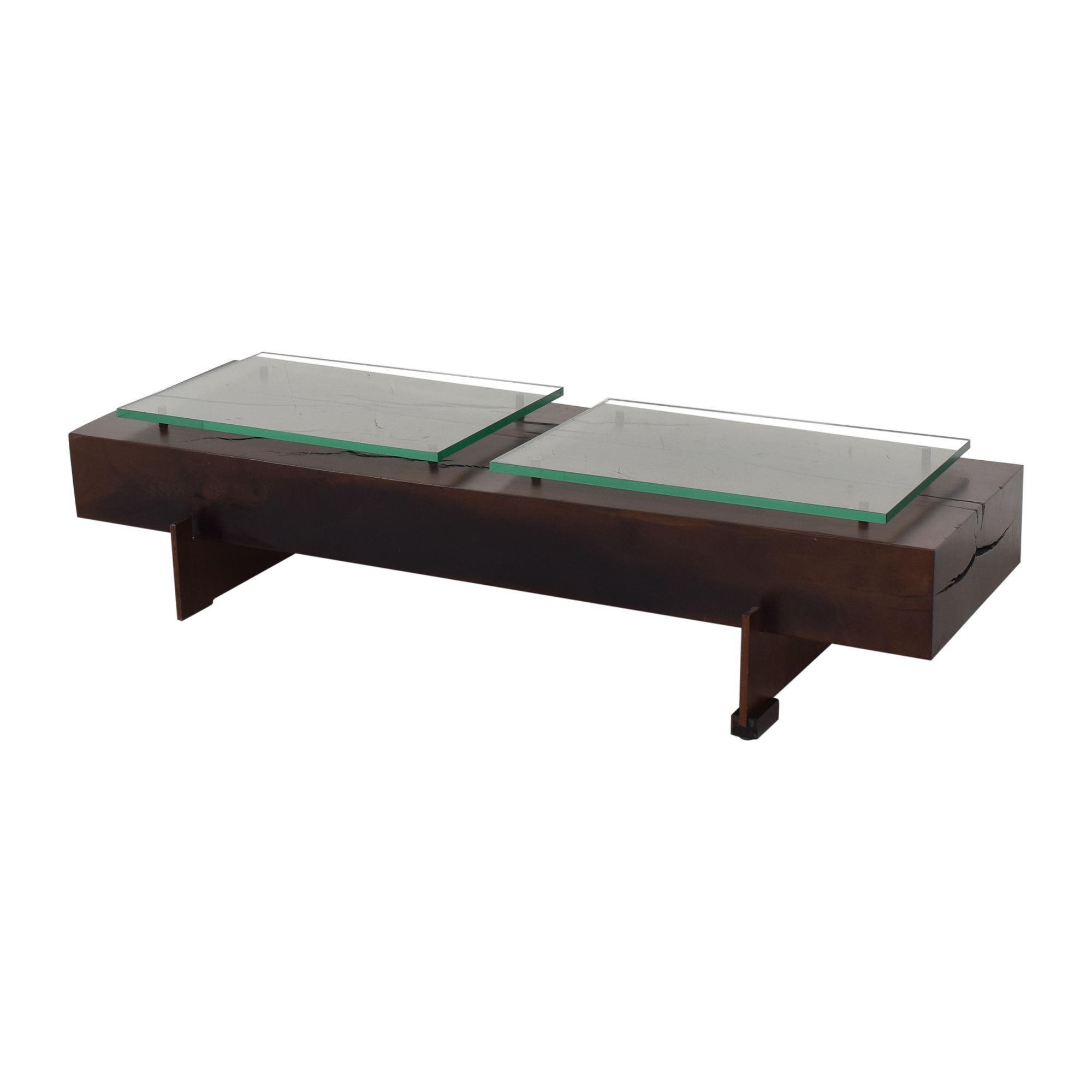Moura Starr Iguatemi Coffee Table With Glass nj