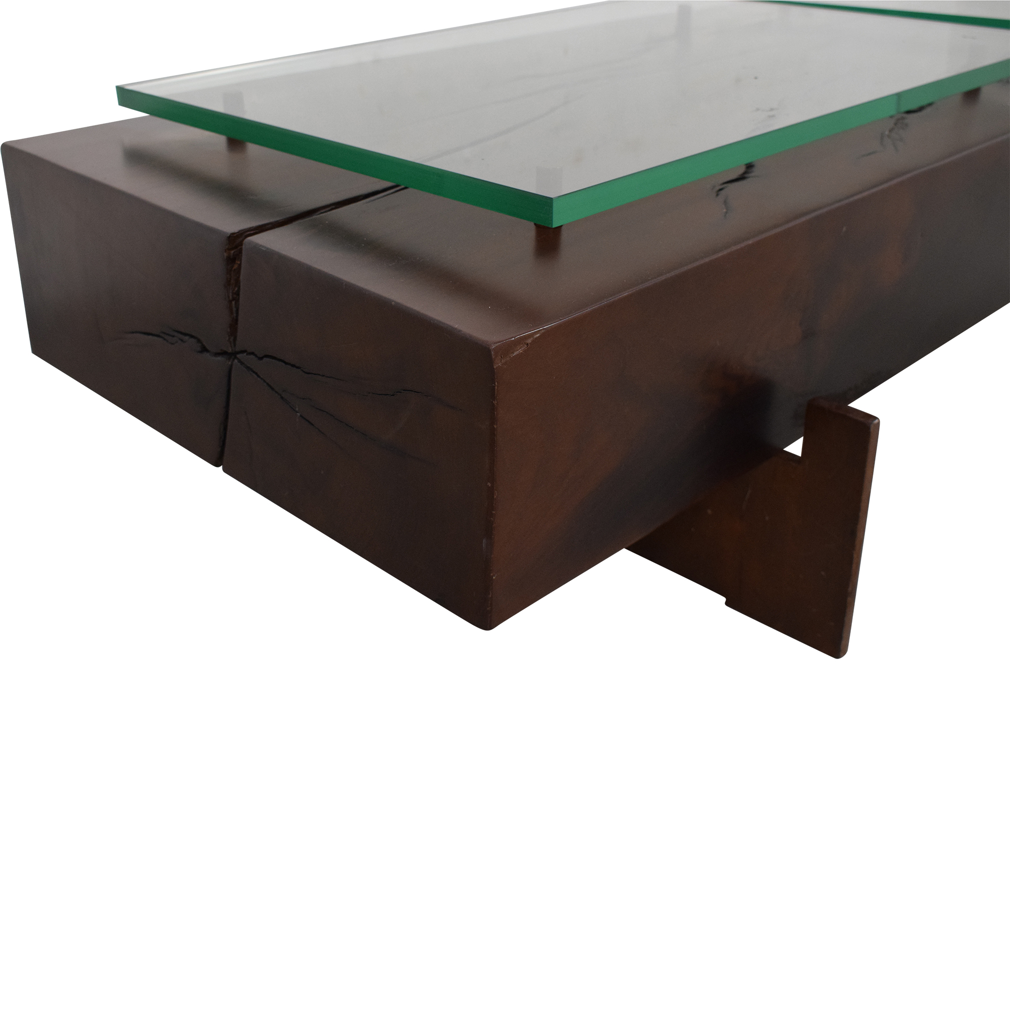 Moura Starr Iguatemi Coffee Table With Glass pa