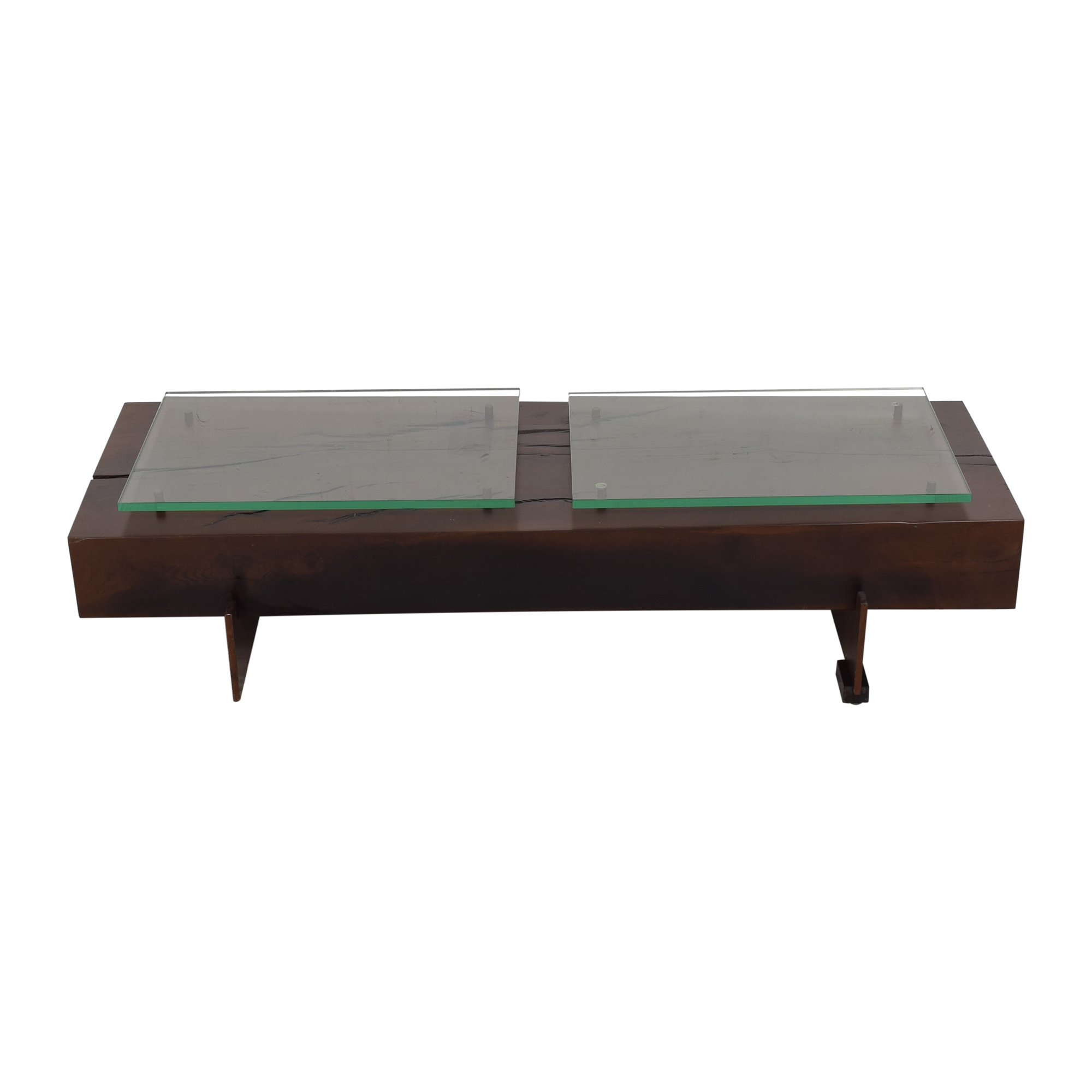 Moura Starr Iguatemi Coffee Table With Glass ma
