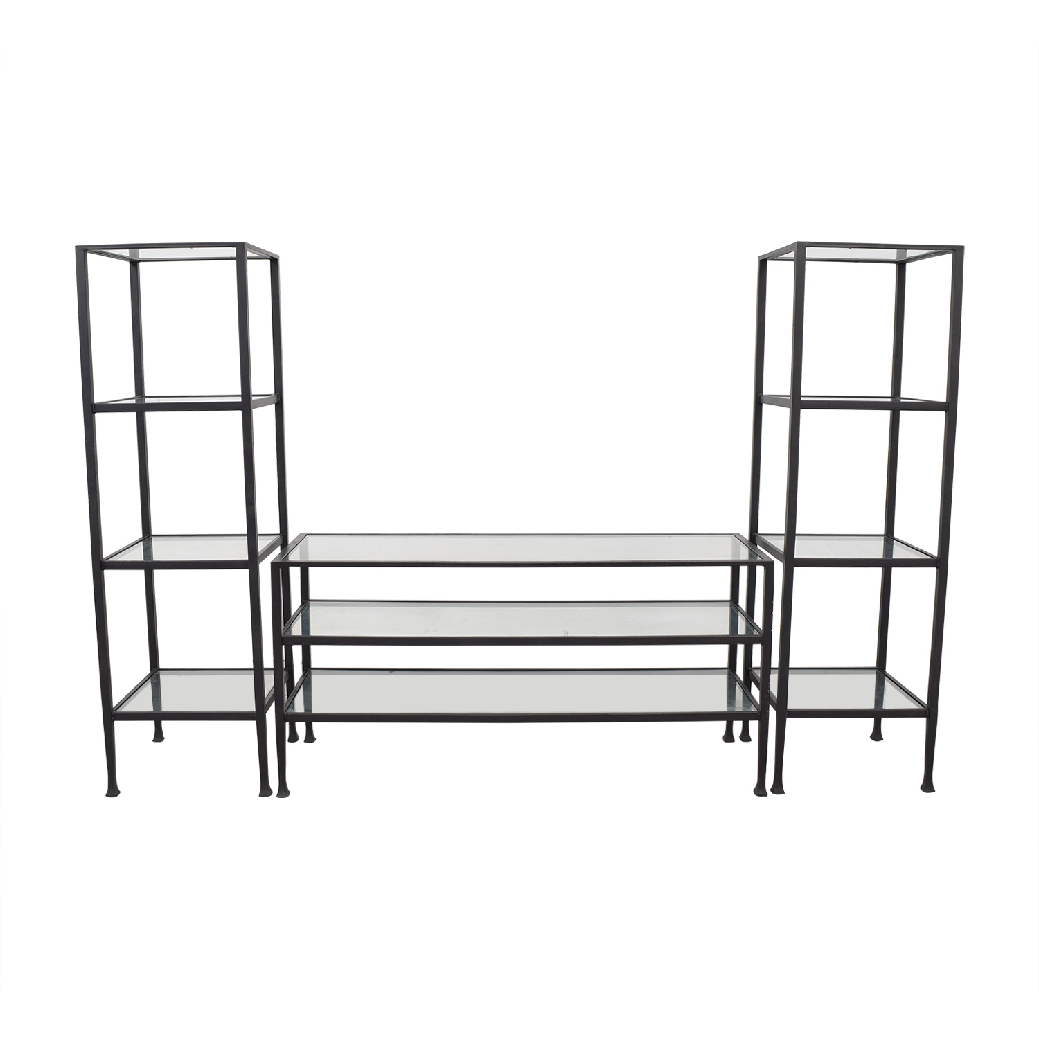 shop Pottery Barn Wrought Iron Media Center Pottery Barn
