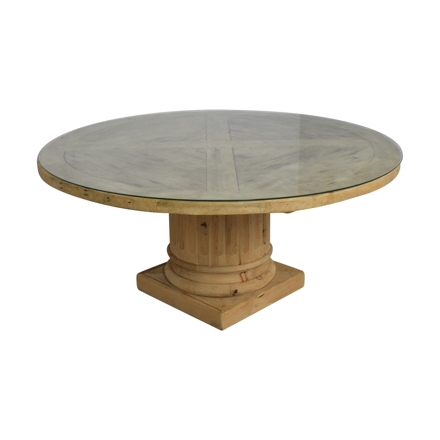 Restoration Hardware Restoration Hardware Salvaged Wood Architectural Column Dining Table for sale
