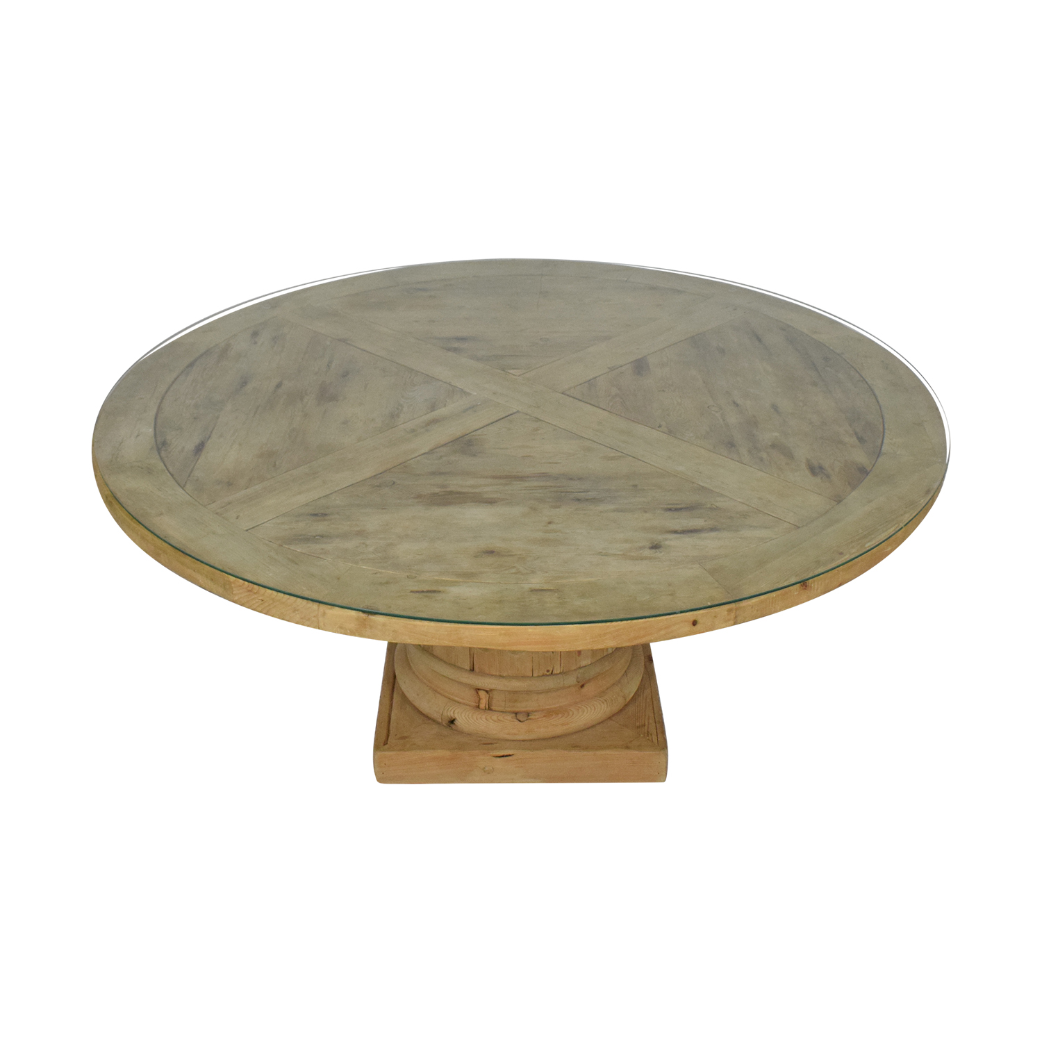 Restoration Hardware Restoration Hardware Salvaged Wood Architectural Column Dining Table light brown