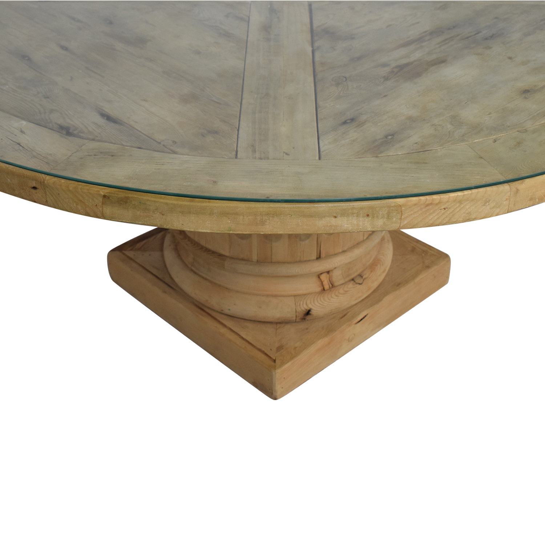 shop Restoration Hardware Salvaged Wood Architectural Column Dining Table Restoration Hardware Dinner Tables