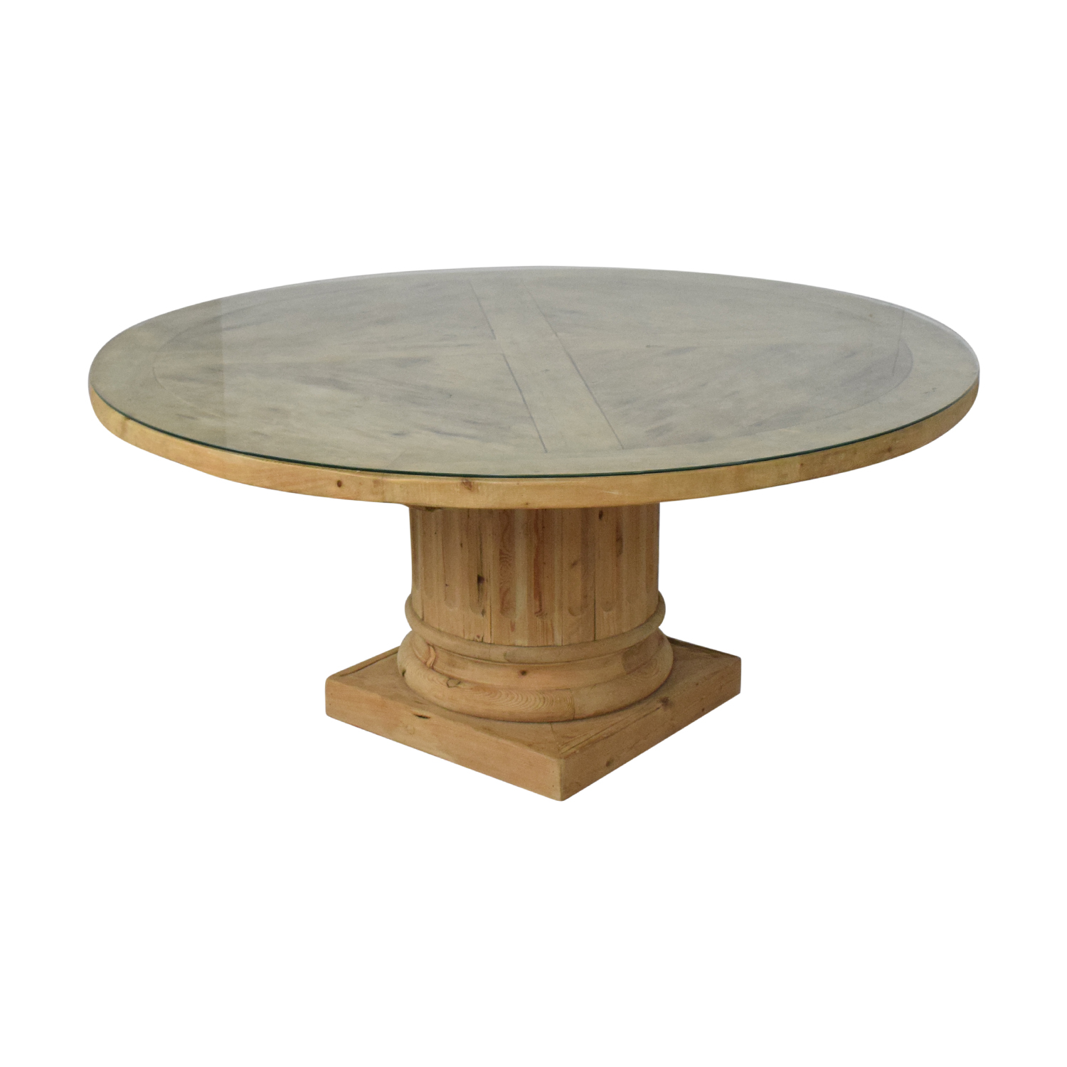Restoration Hardware Restoration Hardware Salvaged Wood Architectural Column Dining Table discount