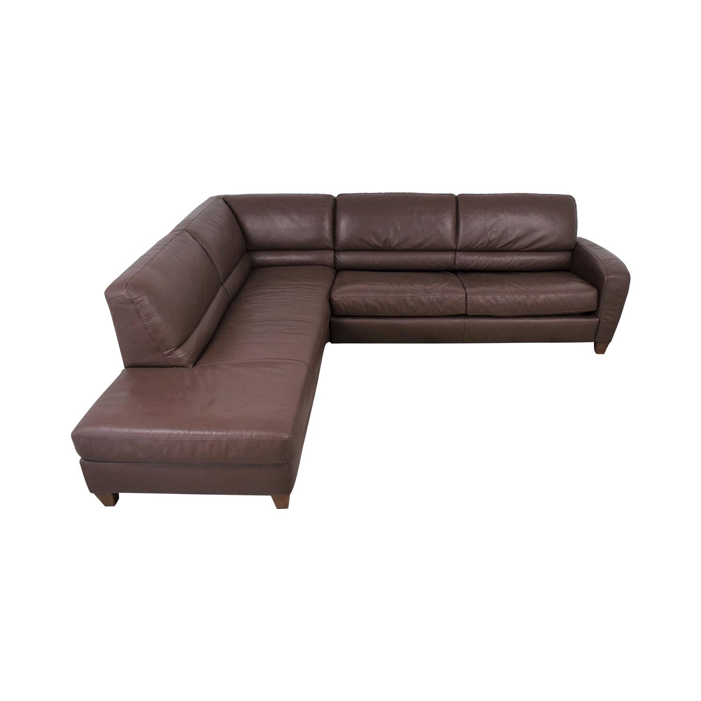 shop Italsofa Sectional Sleeper Sofa with Chaise Italsofa Sofas
