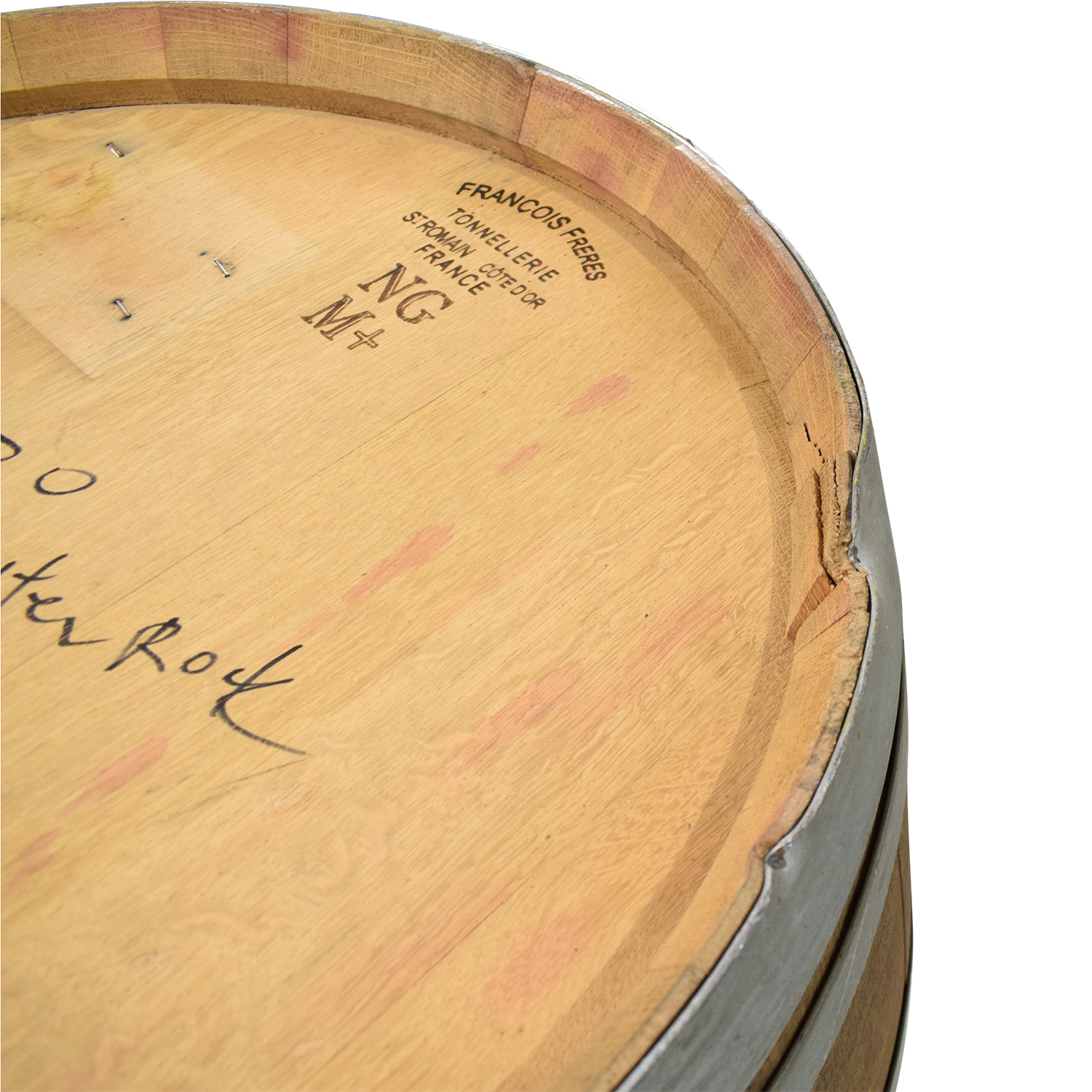 Glass Top Wine Barrel Entertainment Table with Stools pa