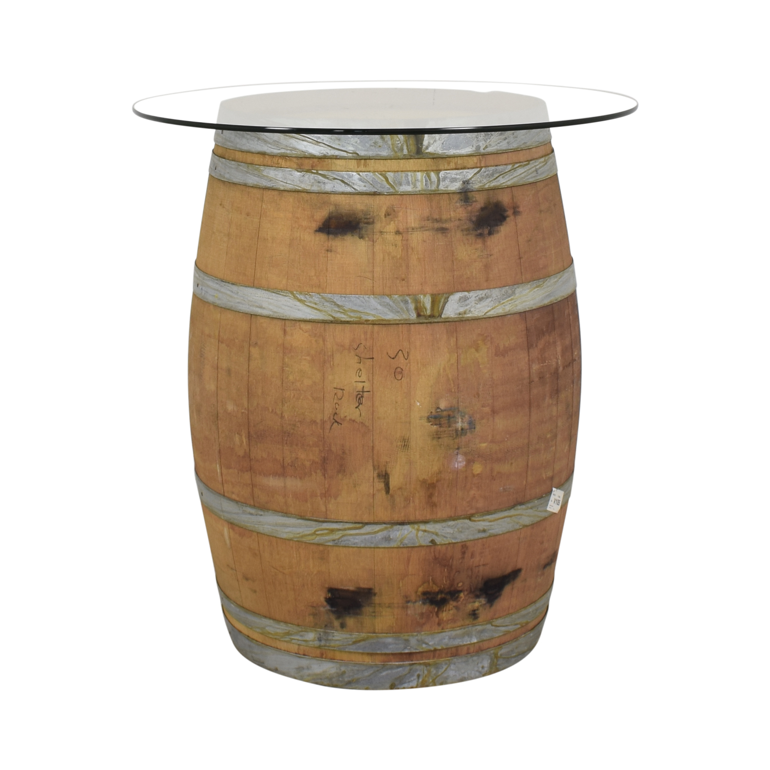 shop  Glass Top Wine Barrel Entertainment Table with Stools online