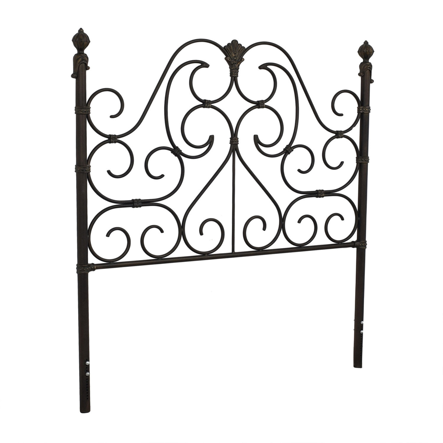 Ornate Queen Headboard grey