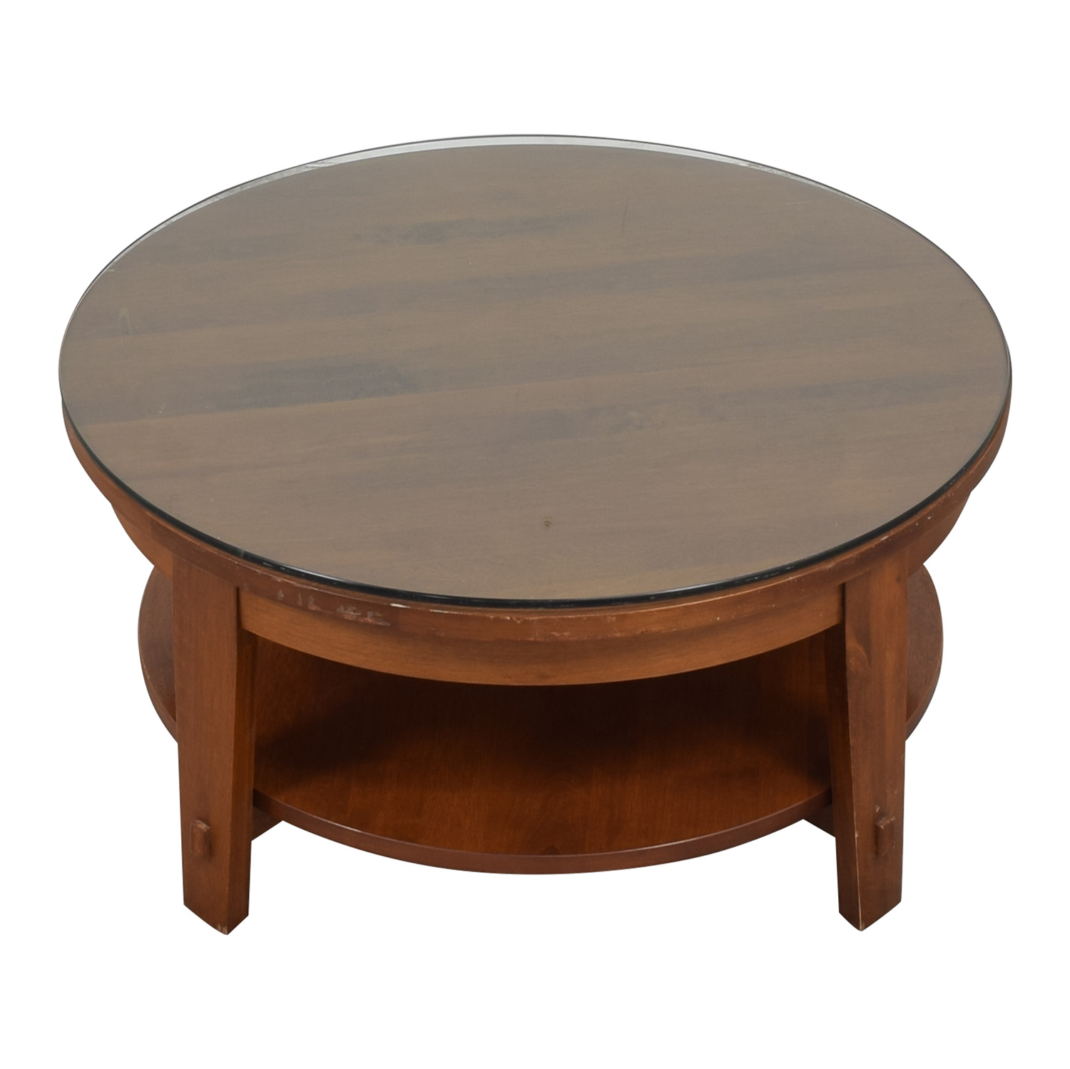 Crate & Barrel Crate & Barrel Round Coffee Table for sale