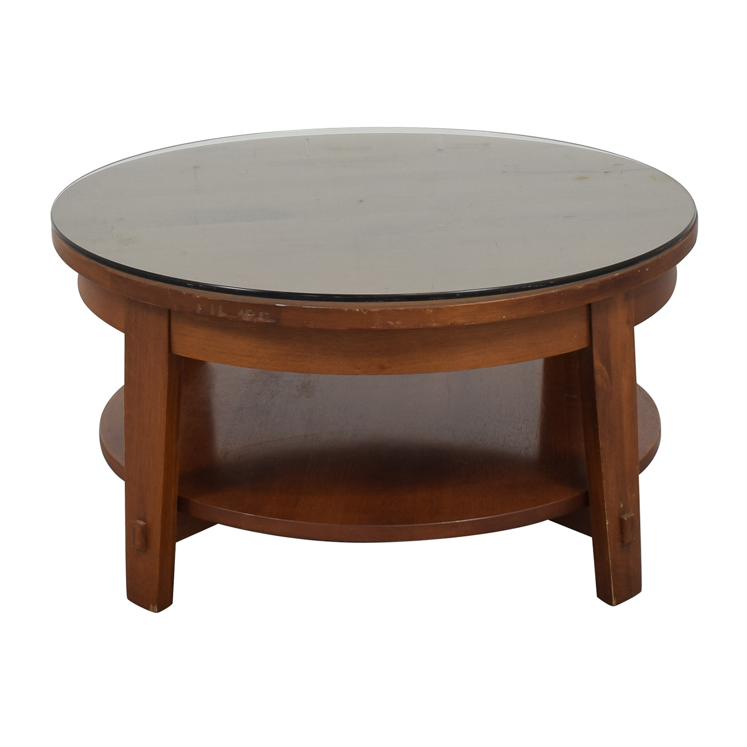 shop Crate & Barrel Round Coffee Table Crate & Barrel Tables