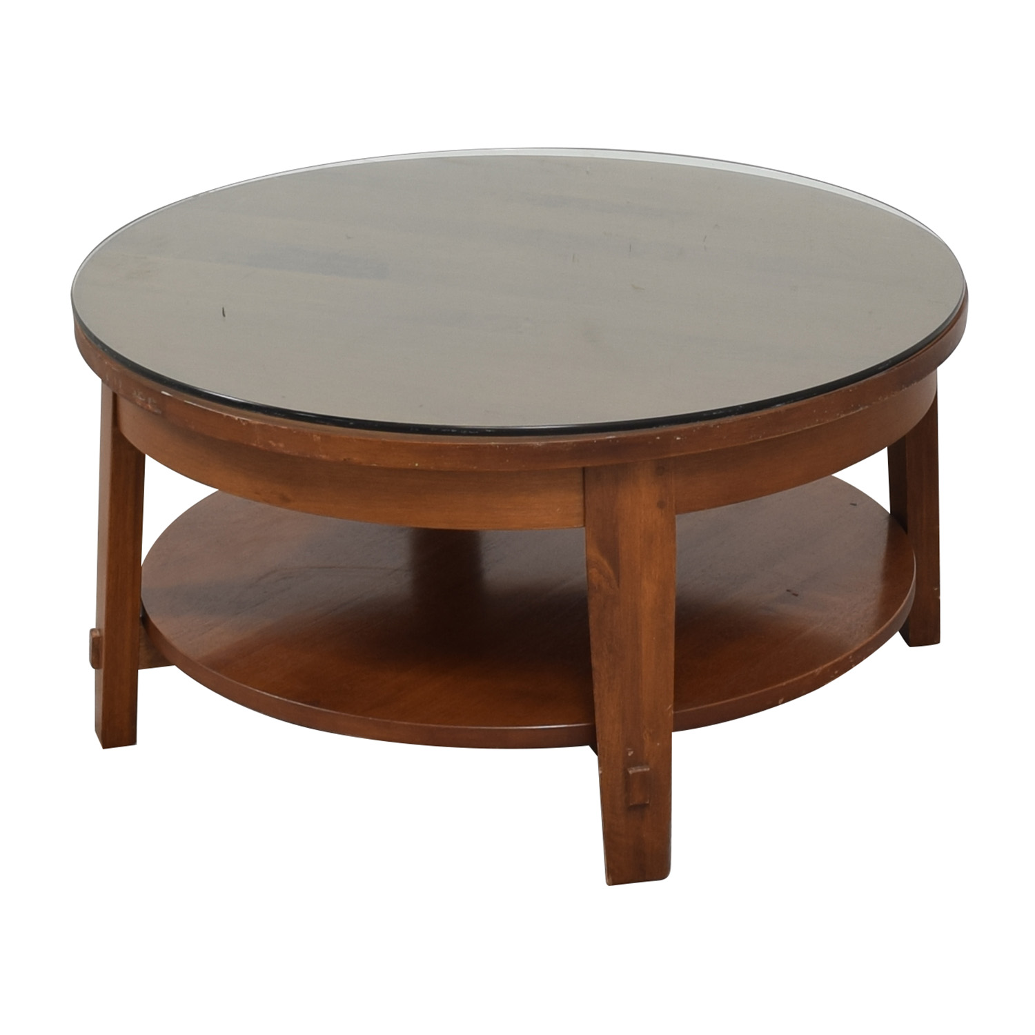 Crate & Barrel Round Coffee Table / Coffee Tables
