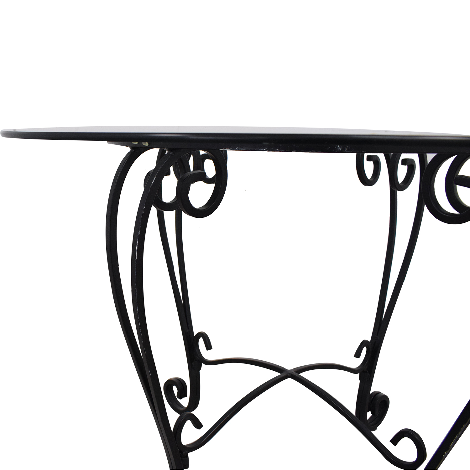 Crate & Barrel Crate & Barrel Glass Top Dining Table price