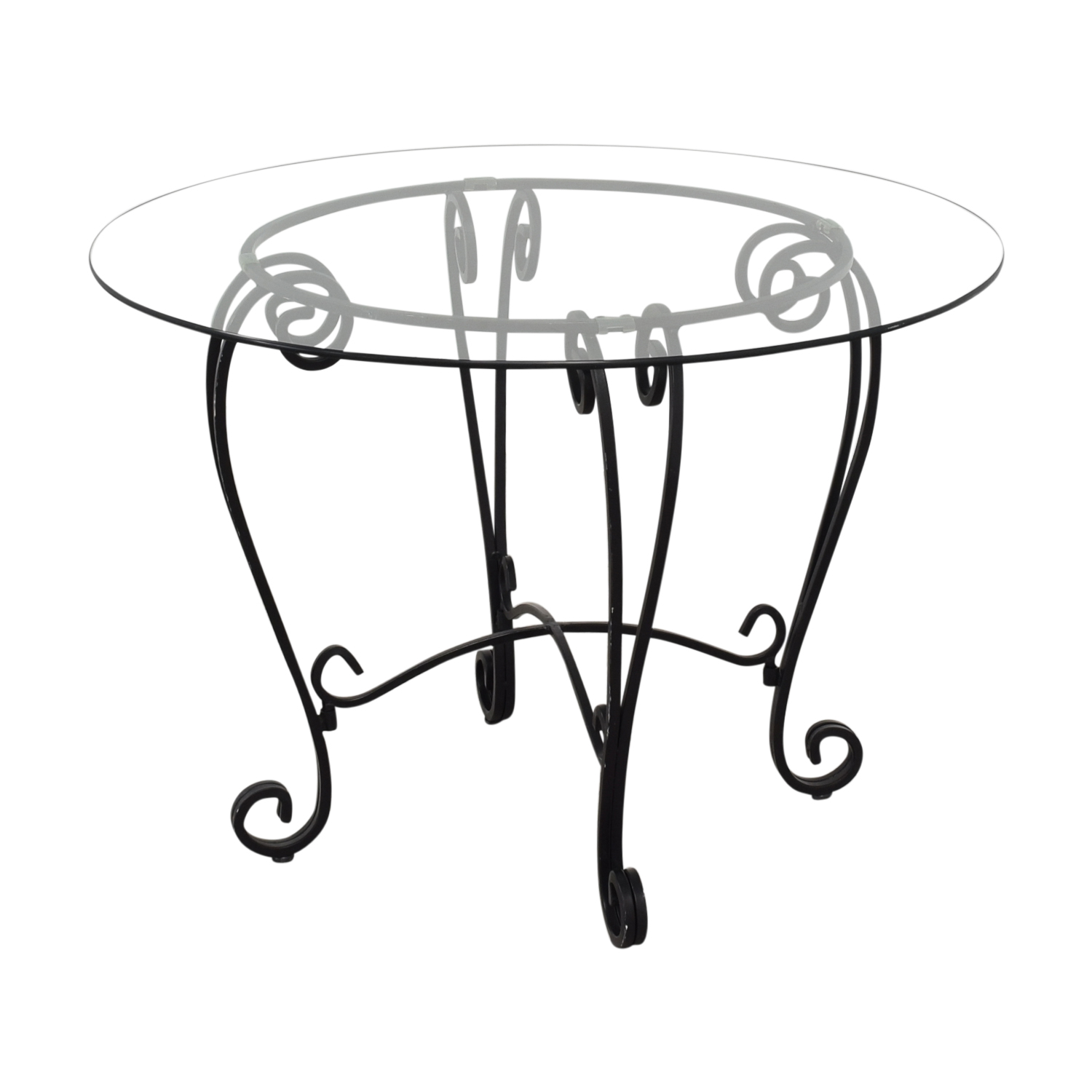 buy Crate & Barrel Crate & Barrel Glass Top Dining Table online