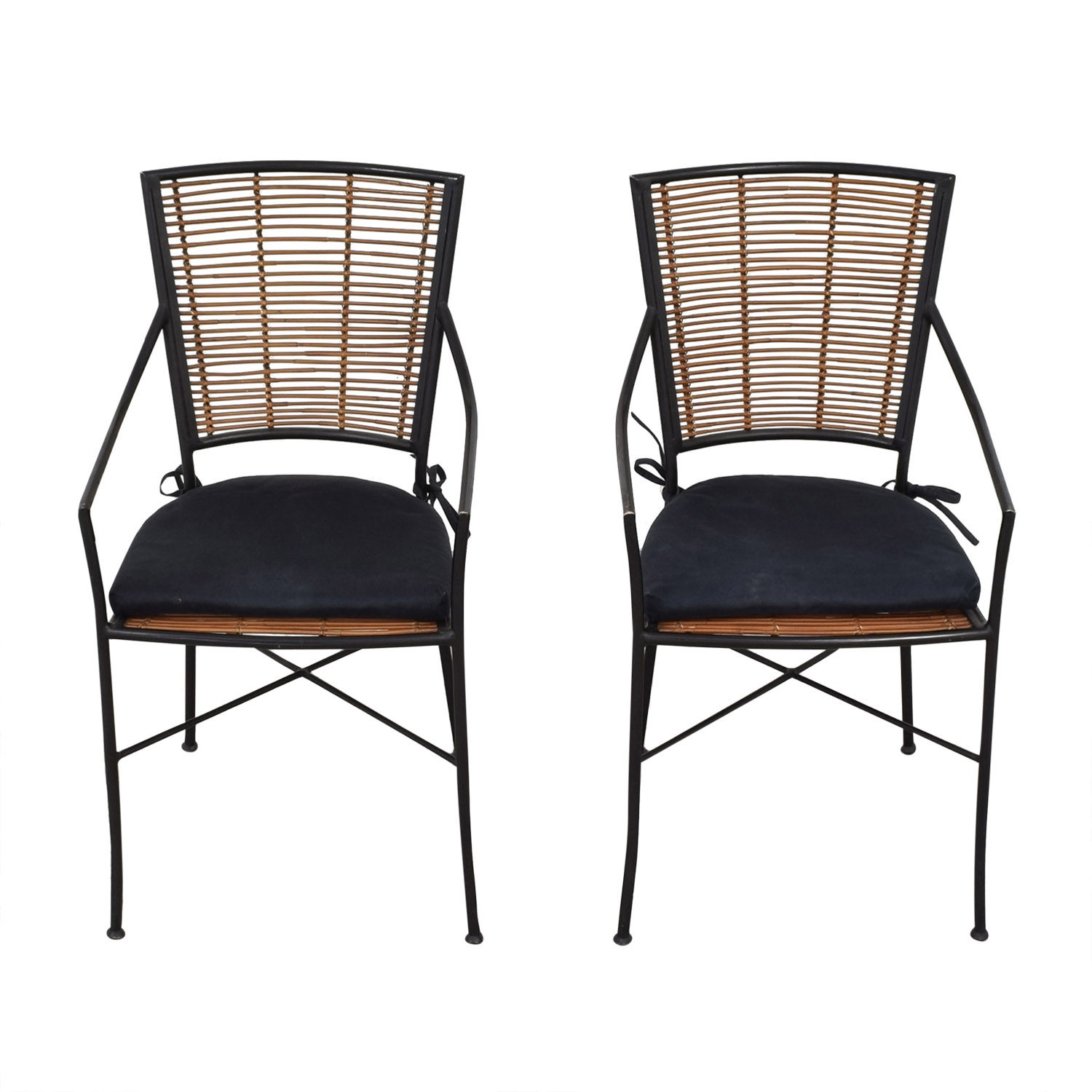 Crate & Barrel Crate & Barrel Dining Chairs brown & black