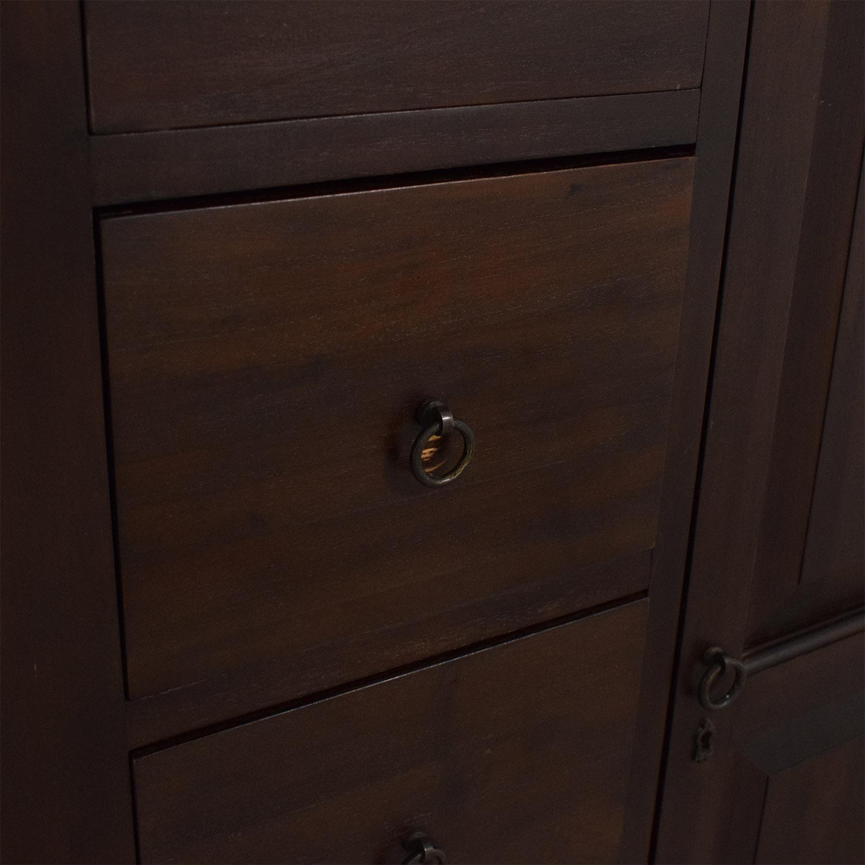 Crate & Barrel Crate & Barrel Five Drawer Dresser with Cabinet ma