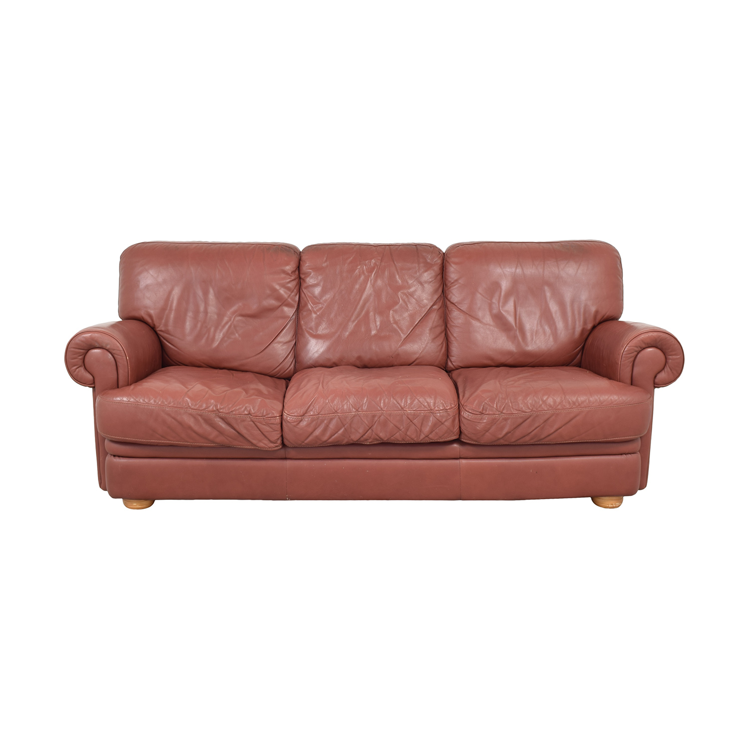 Three Cushion Roll Arm Sofa Sofas