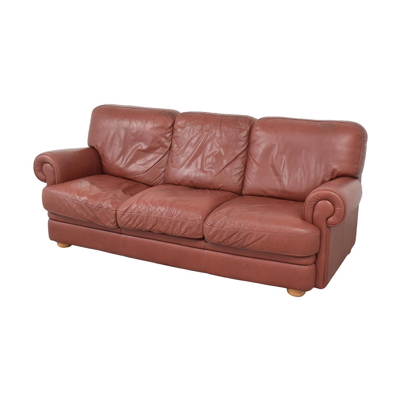 Three Cushion Roll Arm Sofa used