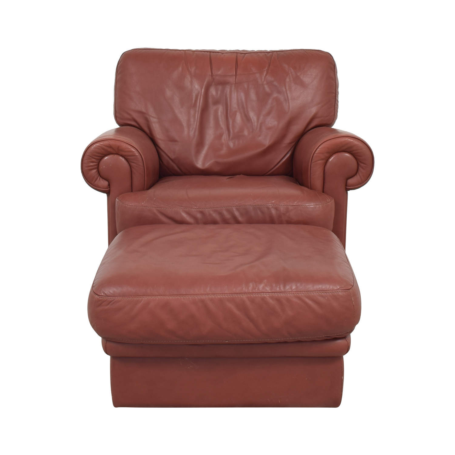 Italian Club Chair with Ottoman on sale