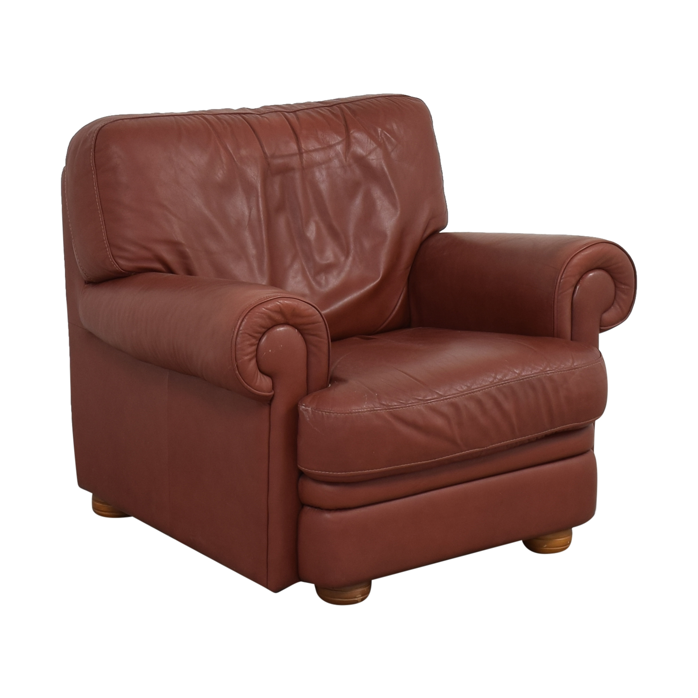 buy Italian Club Chair with Ottoman  Chairs