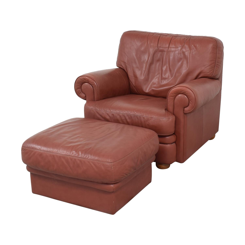 shop Italian Club Chair with Ottoman