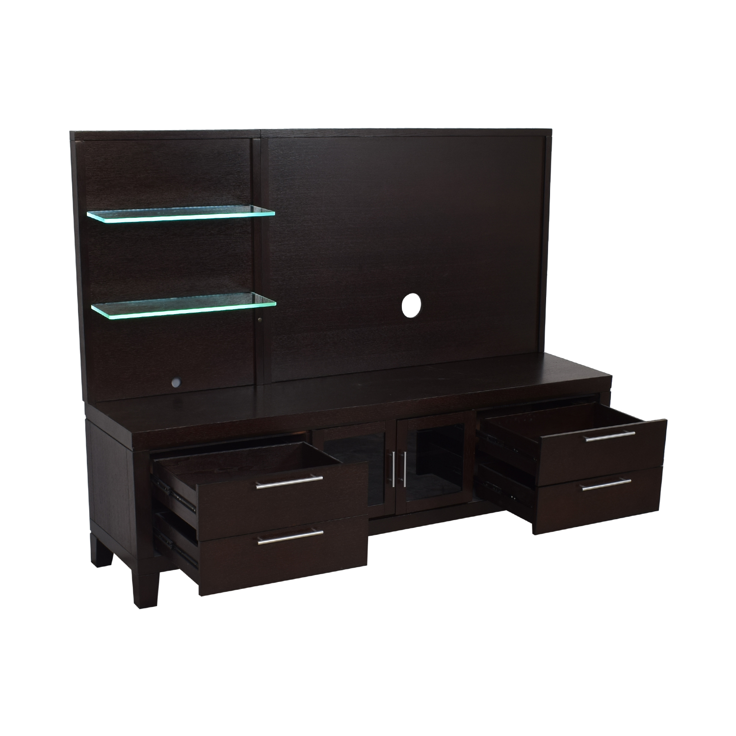 Casana Furniture Television Stand with Back Panel Casana Furniture