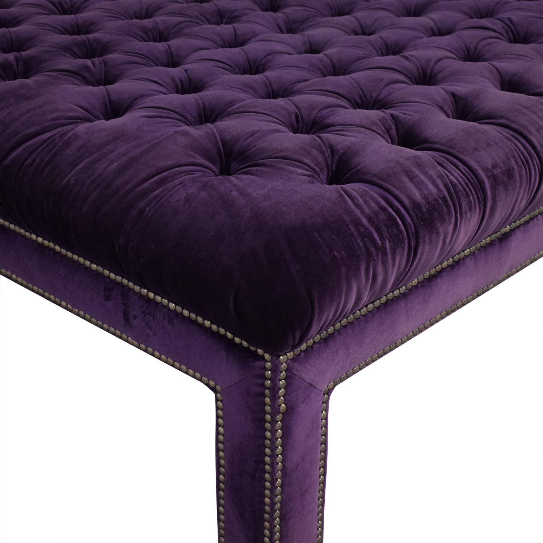 Uphosltered Purple Ottoman Ottomans
