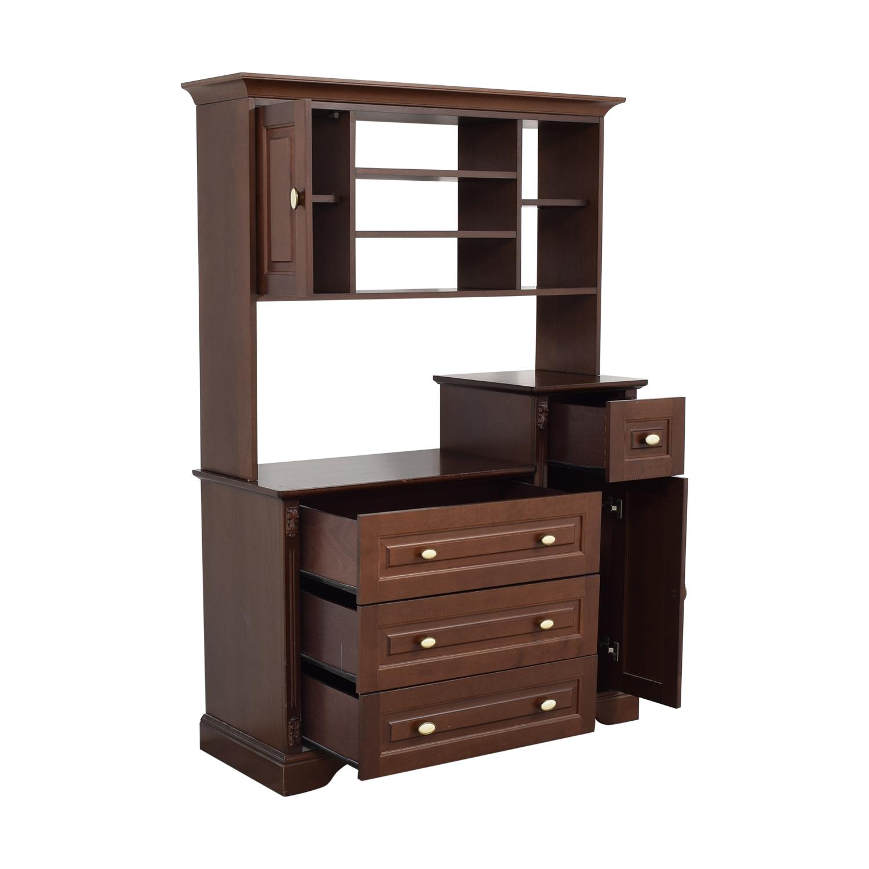 Pali Pali Italian Dresser with Hutch brown
