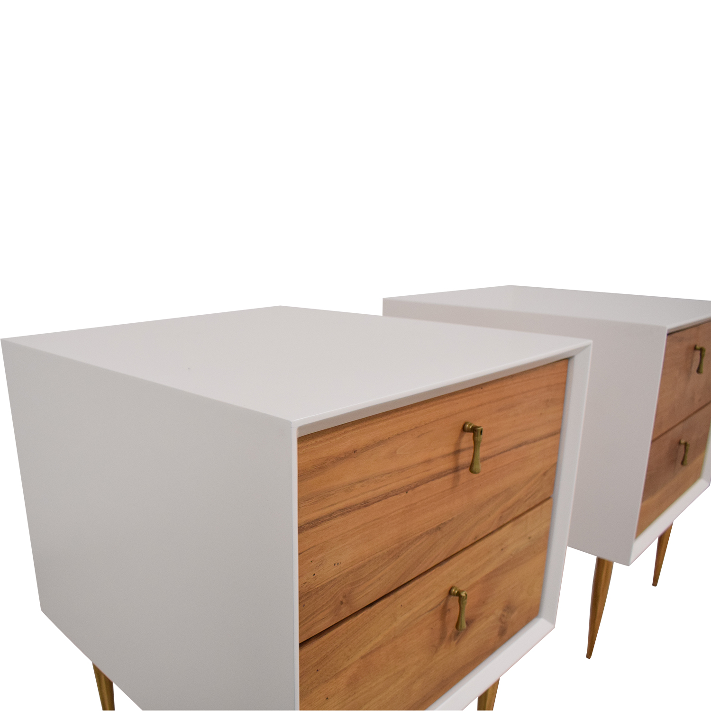 Organic Modernism Two Drawer Bedside Tables Organic Modernism