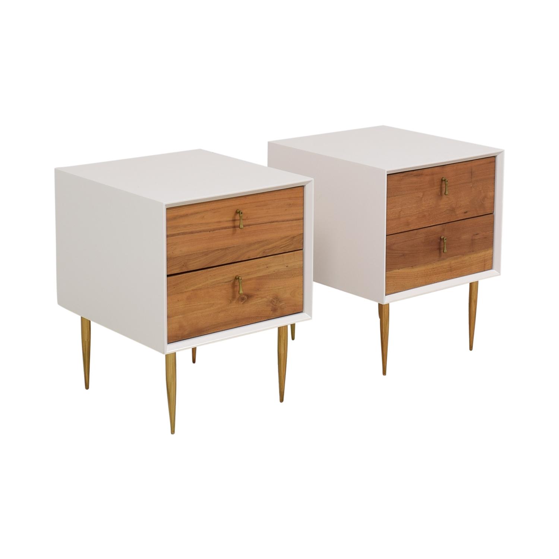 buy Organic Modernism Two Drawer Bedside Tables Organic Modernism End Tables
