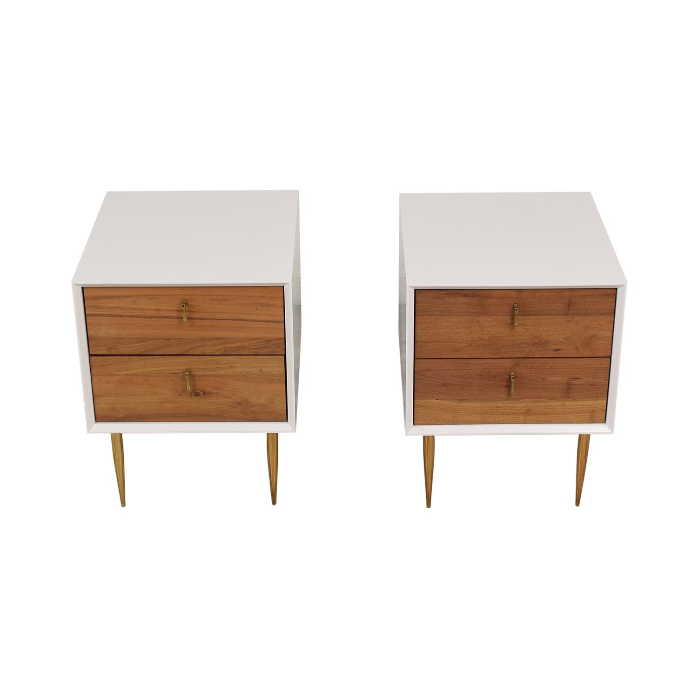 buy Organic Modernism Organic Modernism Two Drawer Bedside Tables online